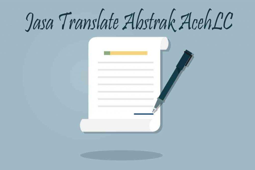 Jasa Translate Abstrak di AcehLC