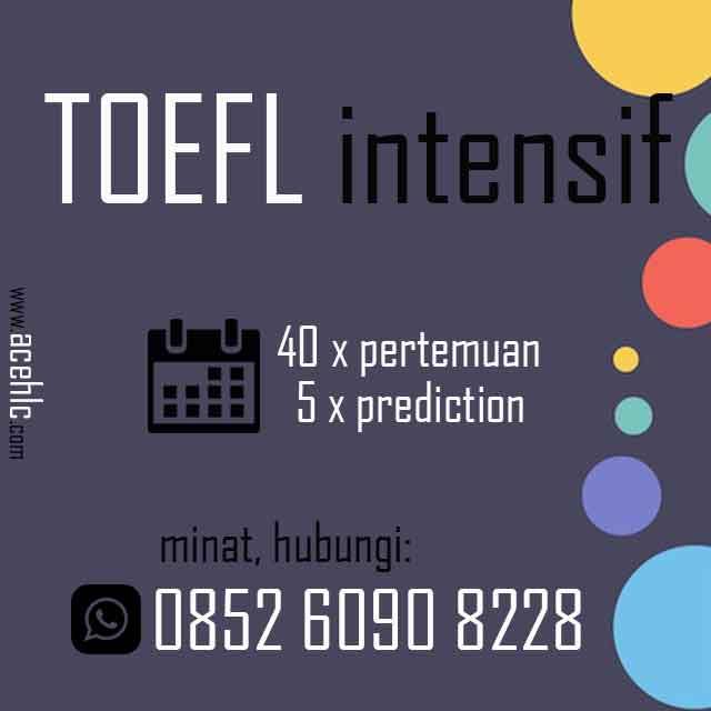 Flyer Kursus TOEFL